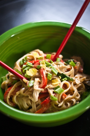 Coconut and Peanut Thai Noodles