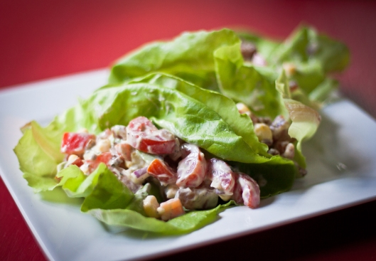 Benton's bacon blt lettuce wraps