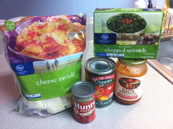 Pantry Pasta Ingredients