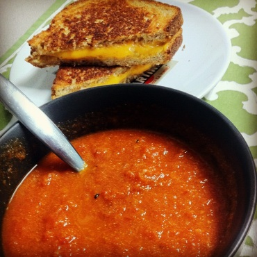 Roasted Tomato Soup and Grilled Cheese